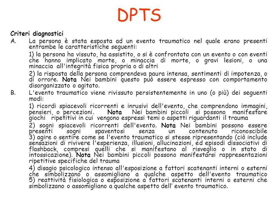 DPTS Criteri diagnostici