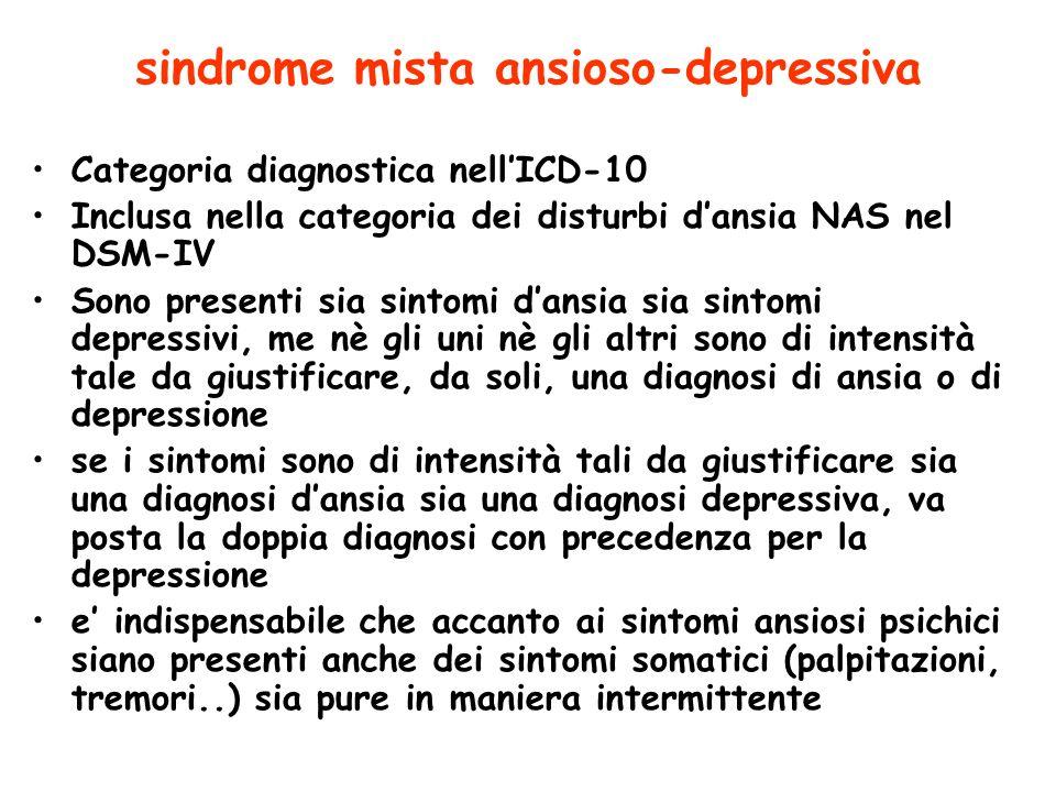 sindrome mista ansioso-depressiva