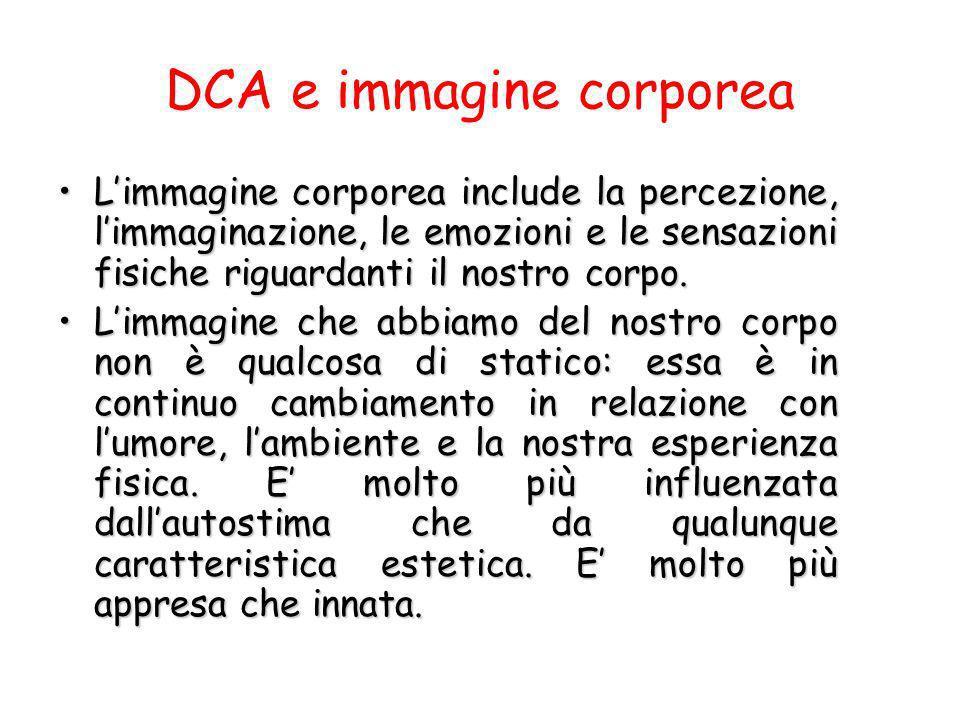 DCA e immagine corporea