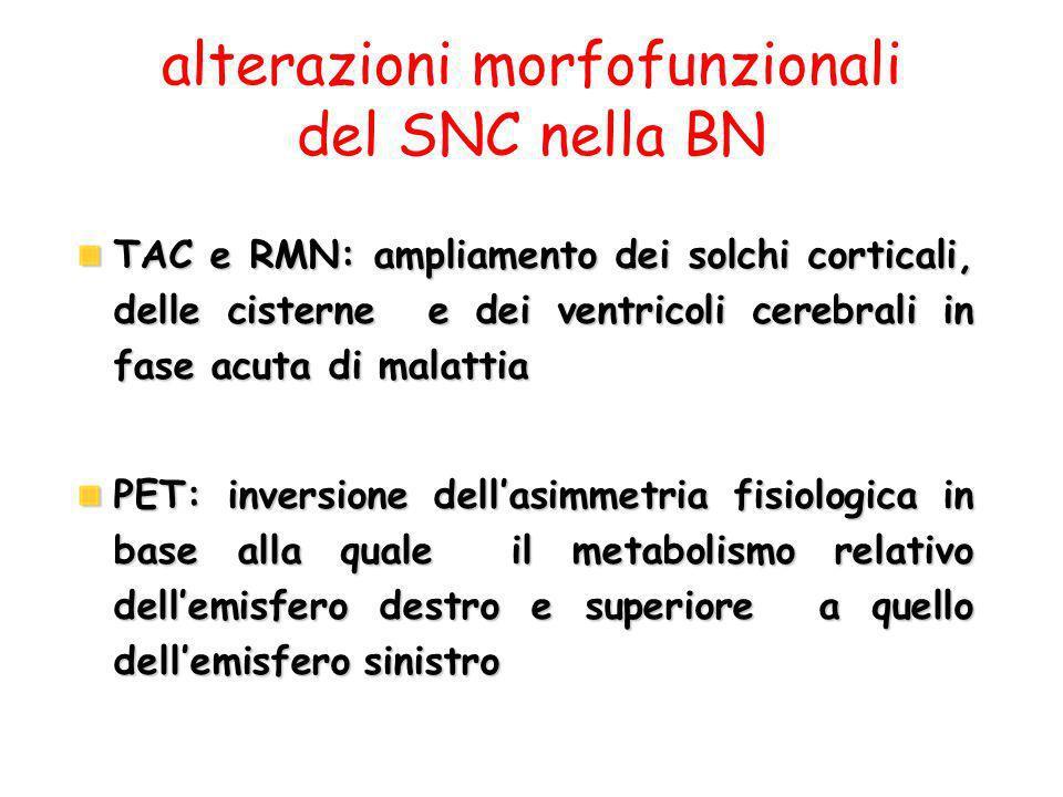 alterazioni morfofunzionali del SNC nella BN