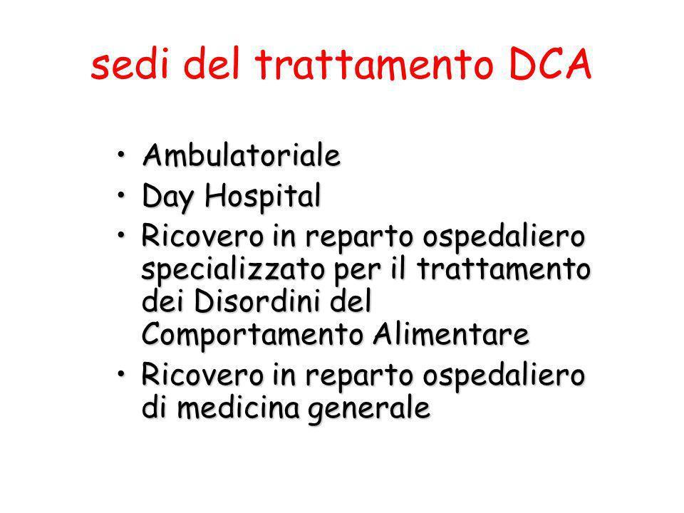 sedi del trattamento DCA