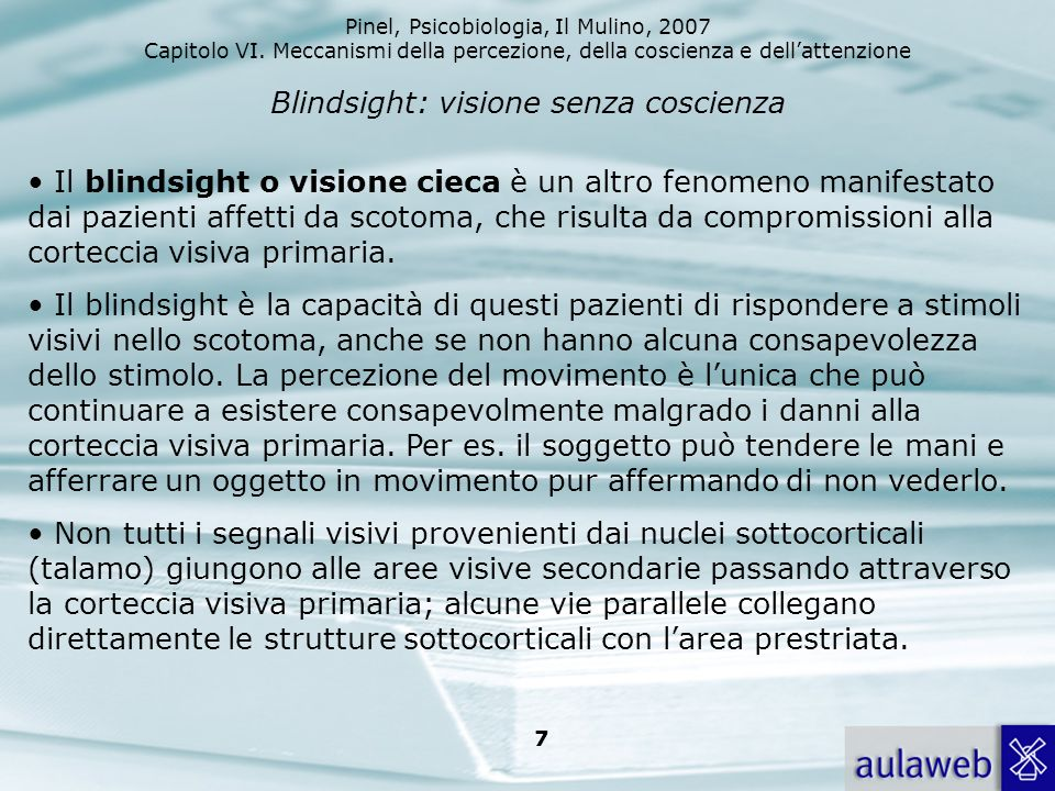 Blindsight: visione senza coscienza