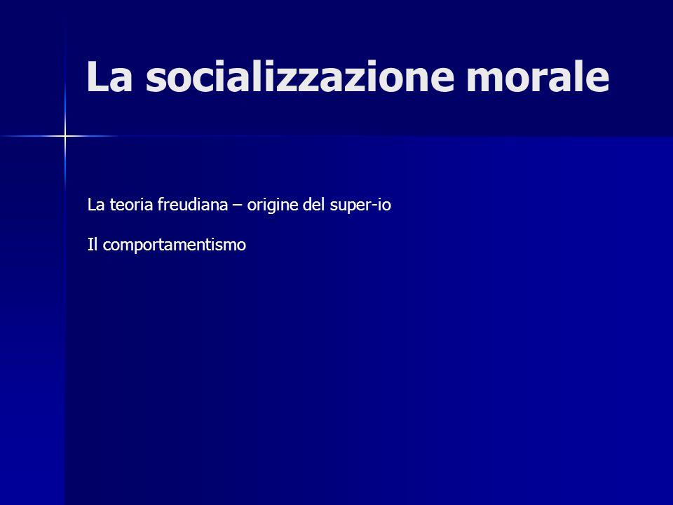 La socializzazione morale