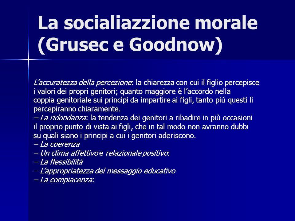 La socialiazzione morale (Grusec e Goodnow)