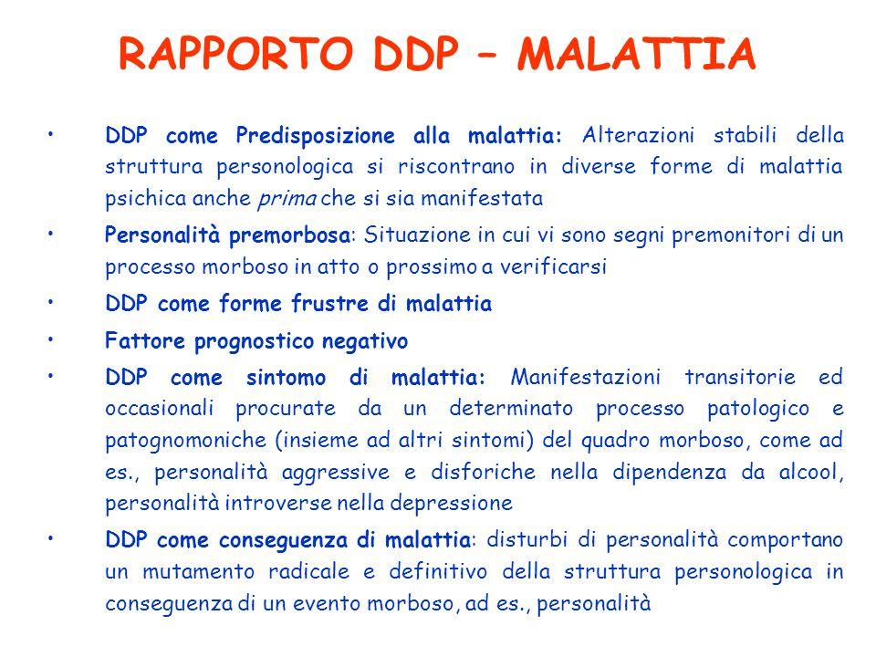 RAPPORTO DDP – MALATTIA