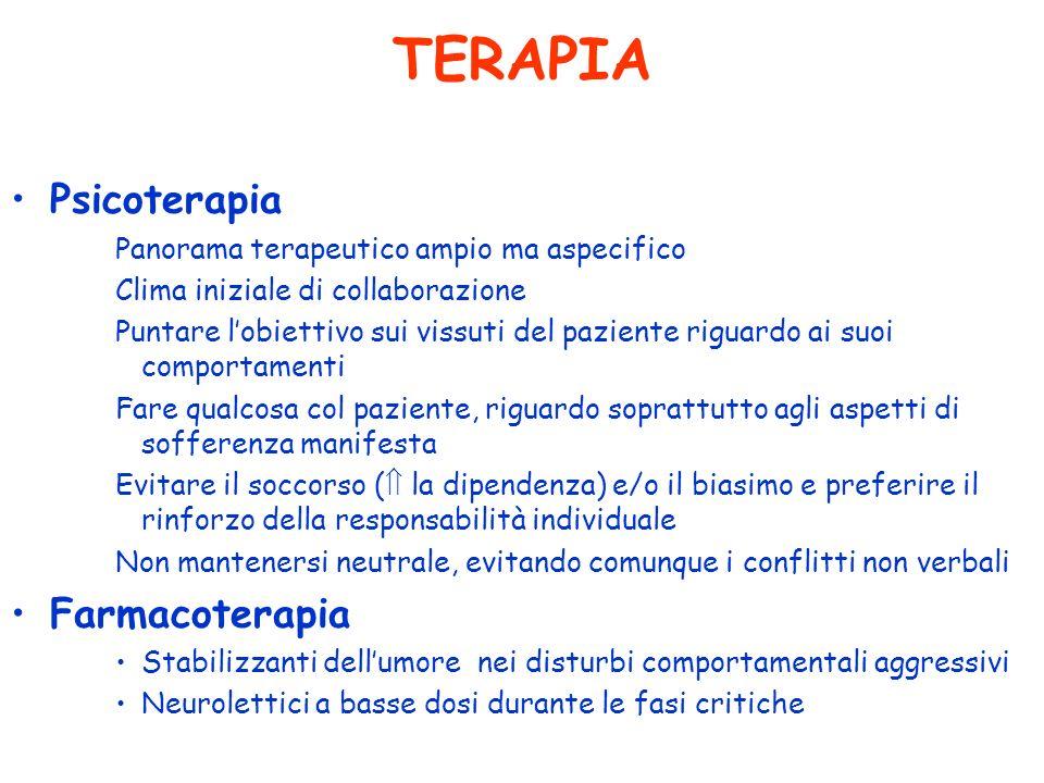 TERAPIA Psicoterapia Farmacoterapia
