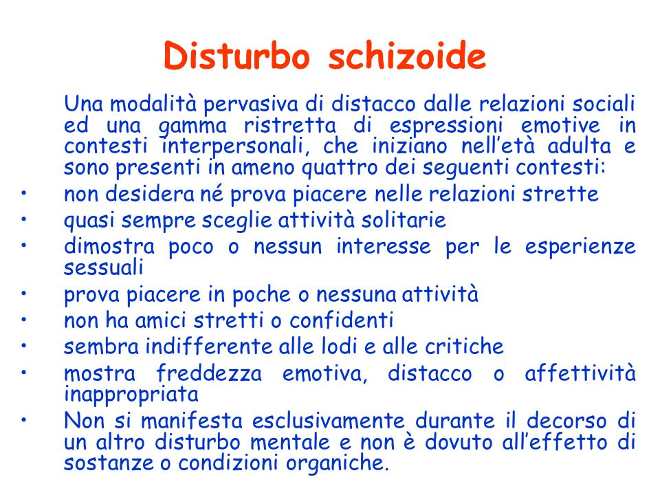 Disturbo schizoide