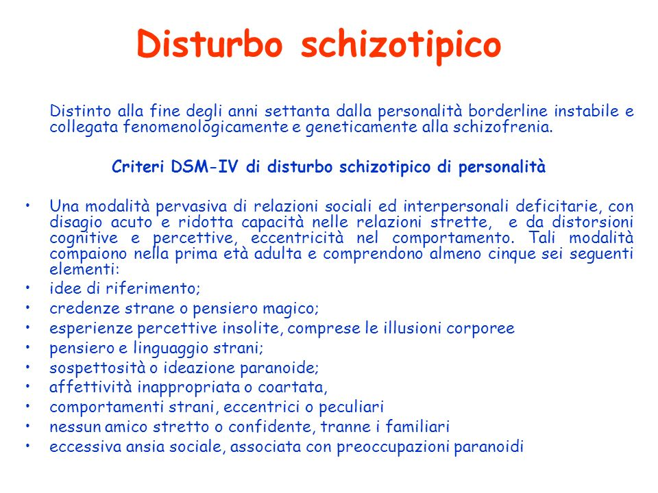 Disturbo schizotipico