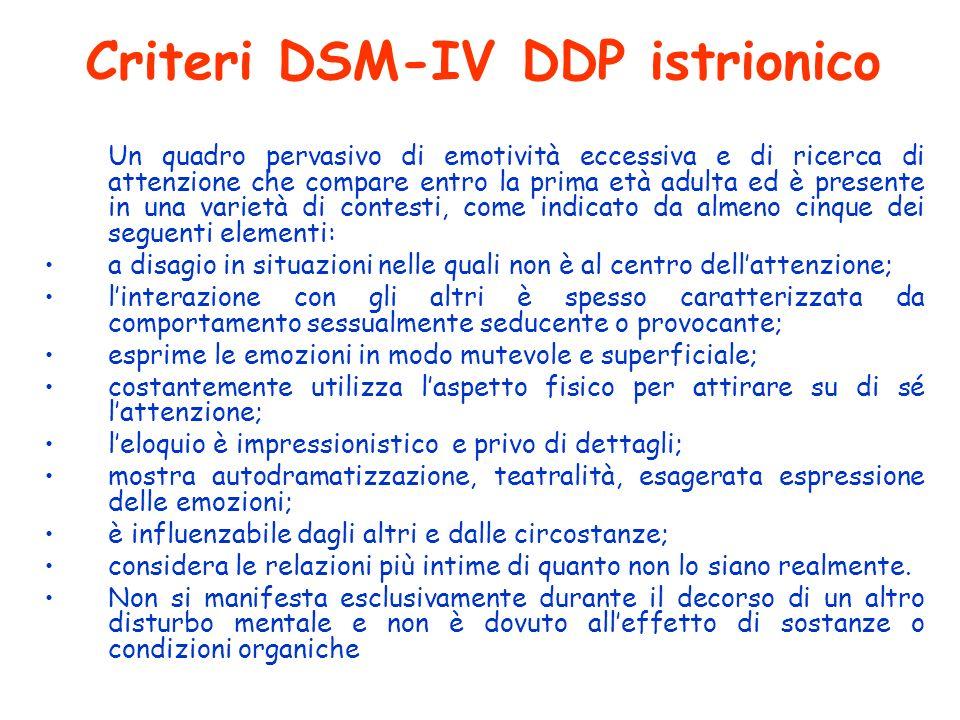 Criteri DSM-IV DDP istrionico