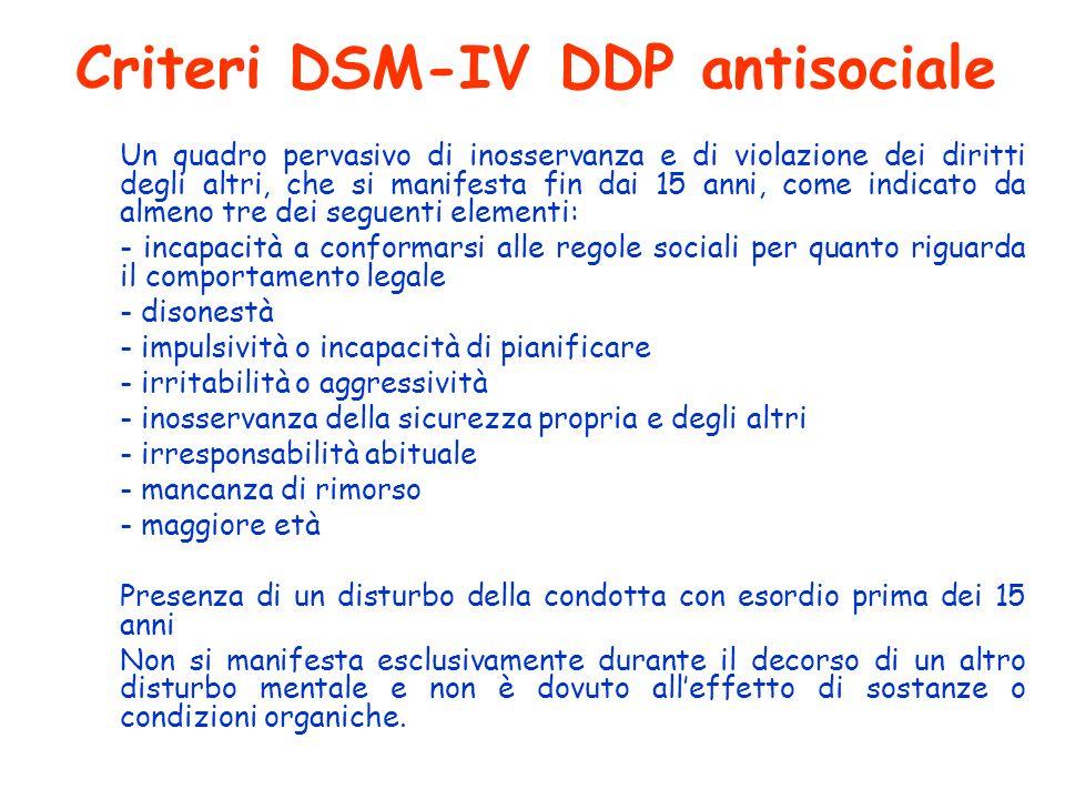 Criteri DSM-IV DDP antisociale