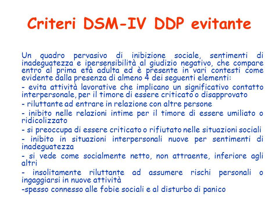 Criteri DSM-IV DDP evitante