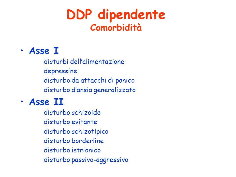 DDP dipendente Comorbidità