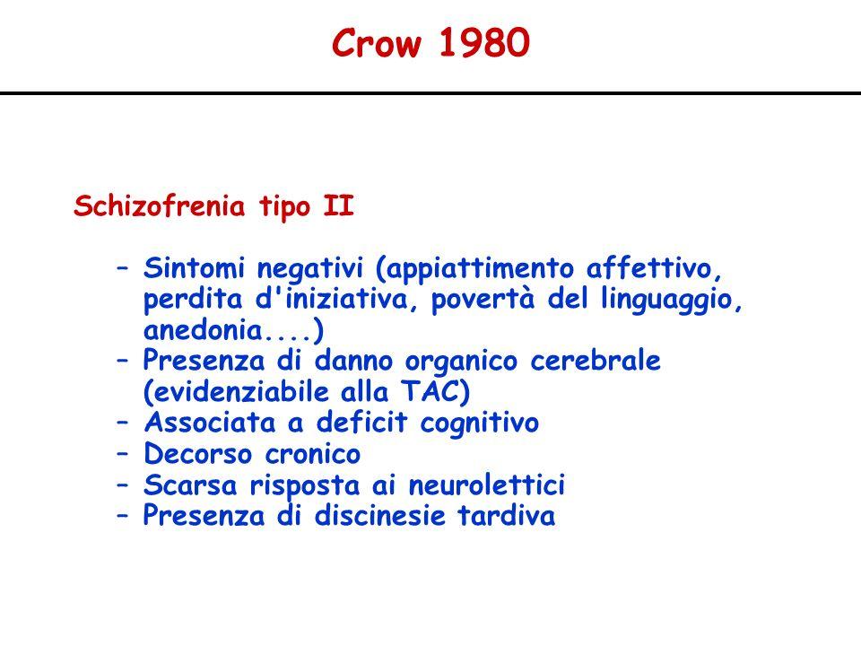 Crow 1980 Schizofrenia tipo II