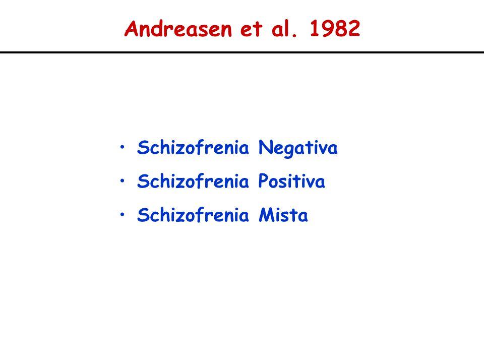 Andreasen et al. 1982 Schizofrenia Negativa Schizofrenia Positiva