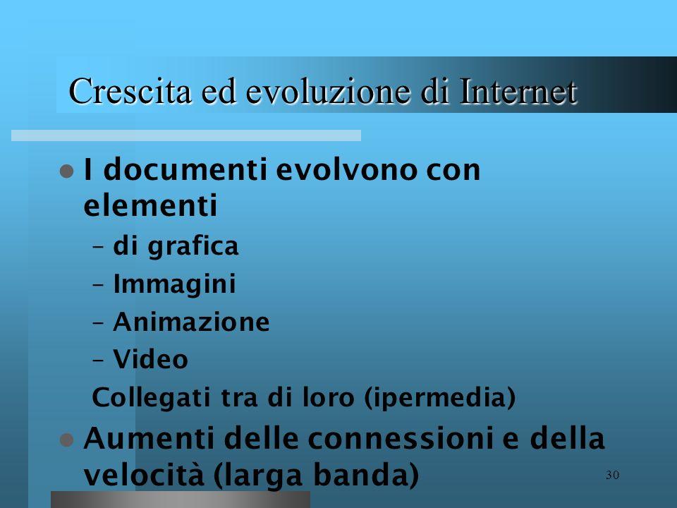 Crescita ed evoluzione di Internet