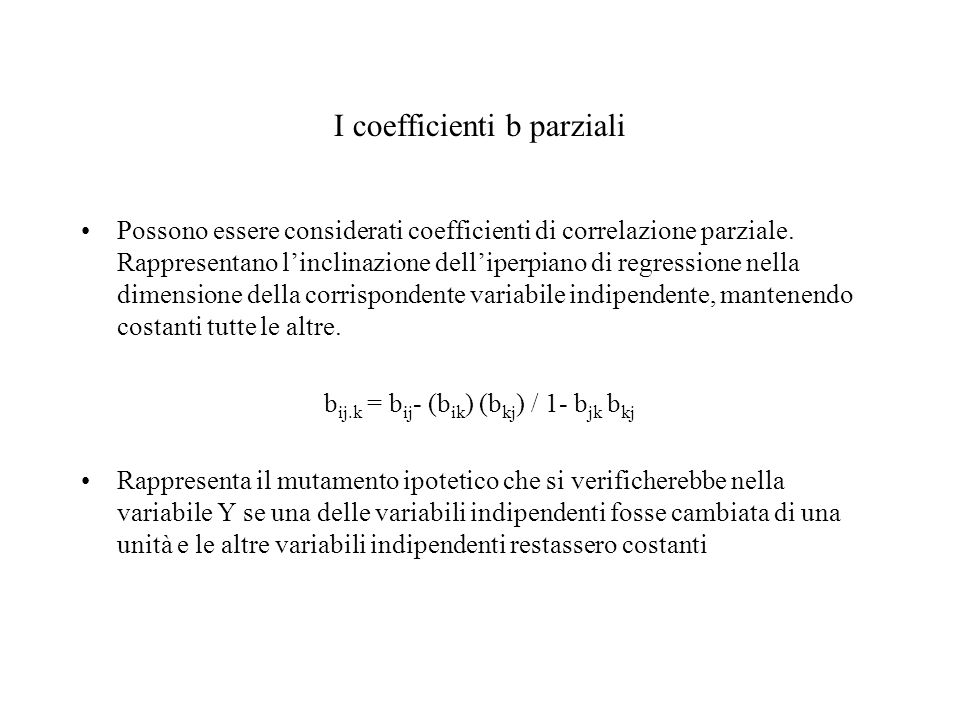 I coefficienti b parziali
