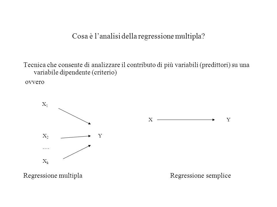Cosa è l'analisi della regressione multipla
