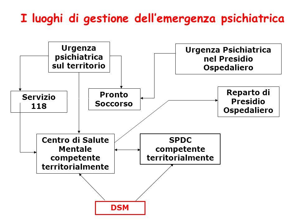 I luoghi di gestione dell'emergenza psichiatrica