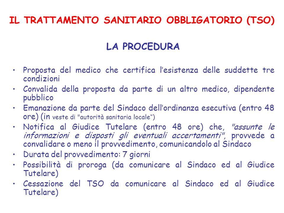IL TRATTAMENTO SANITARIO OBBLIGATORIO (TSO)