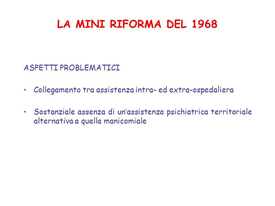 LA MINI RIFORMA DEL 1968 ASPETTI PROBLEMATICI