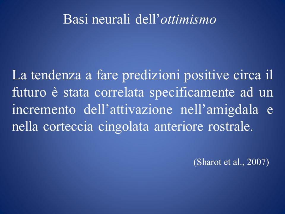 Basi neurali dell'ottimismo