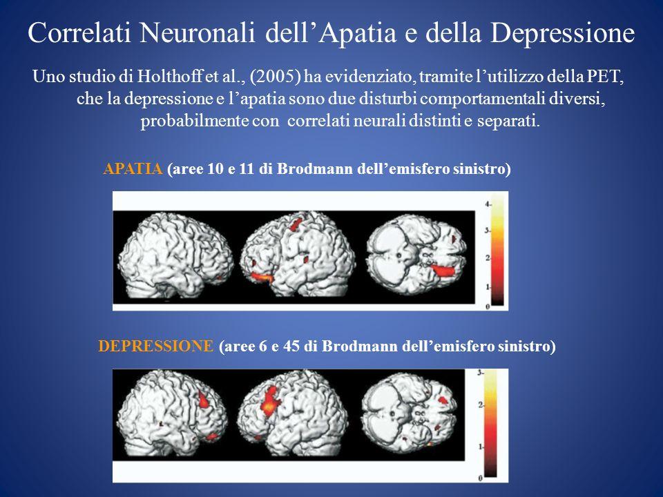 Correlati Neuronali dell'Apatia e della Depressione