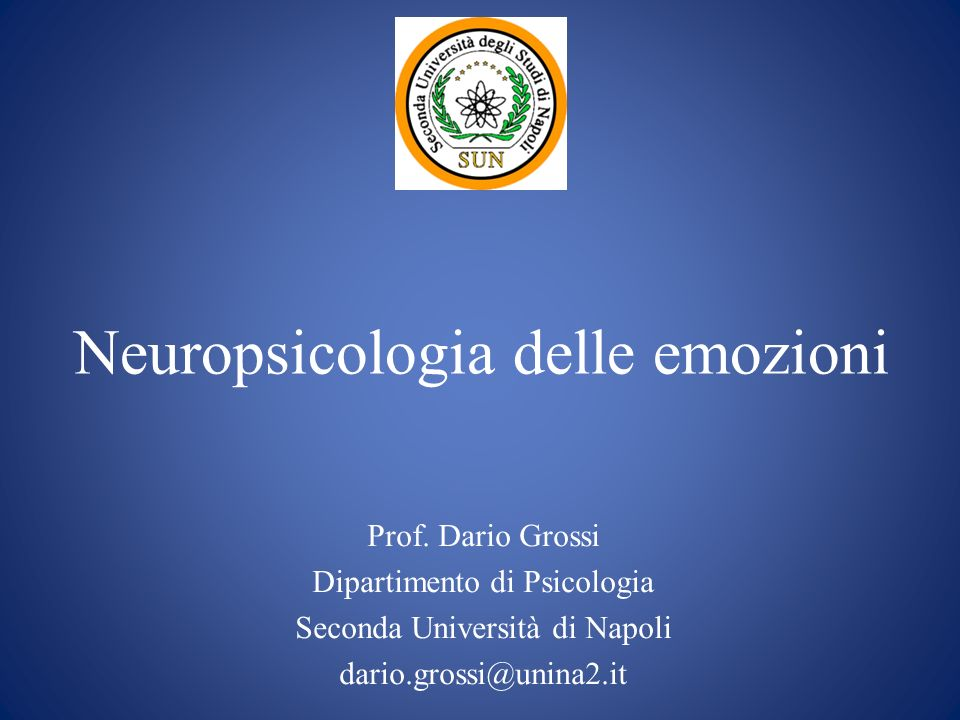 Neuropsicologia delle emozioni