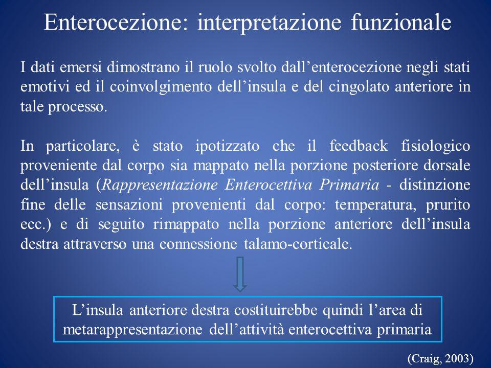 Enterocezione: interpretazione funzionale