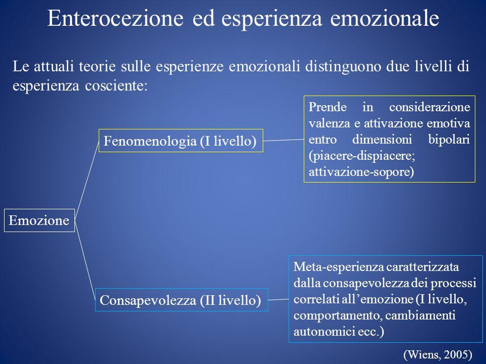 Enterocezione ed esperienza emozionale