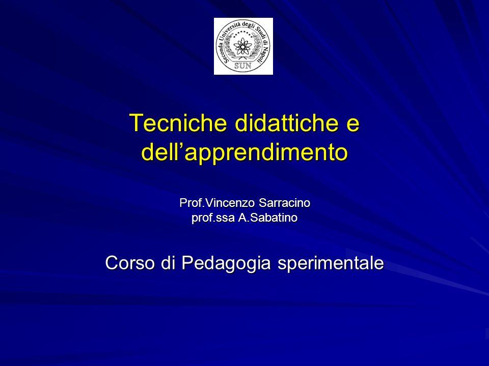 Corso di Pedagogia sperimentale