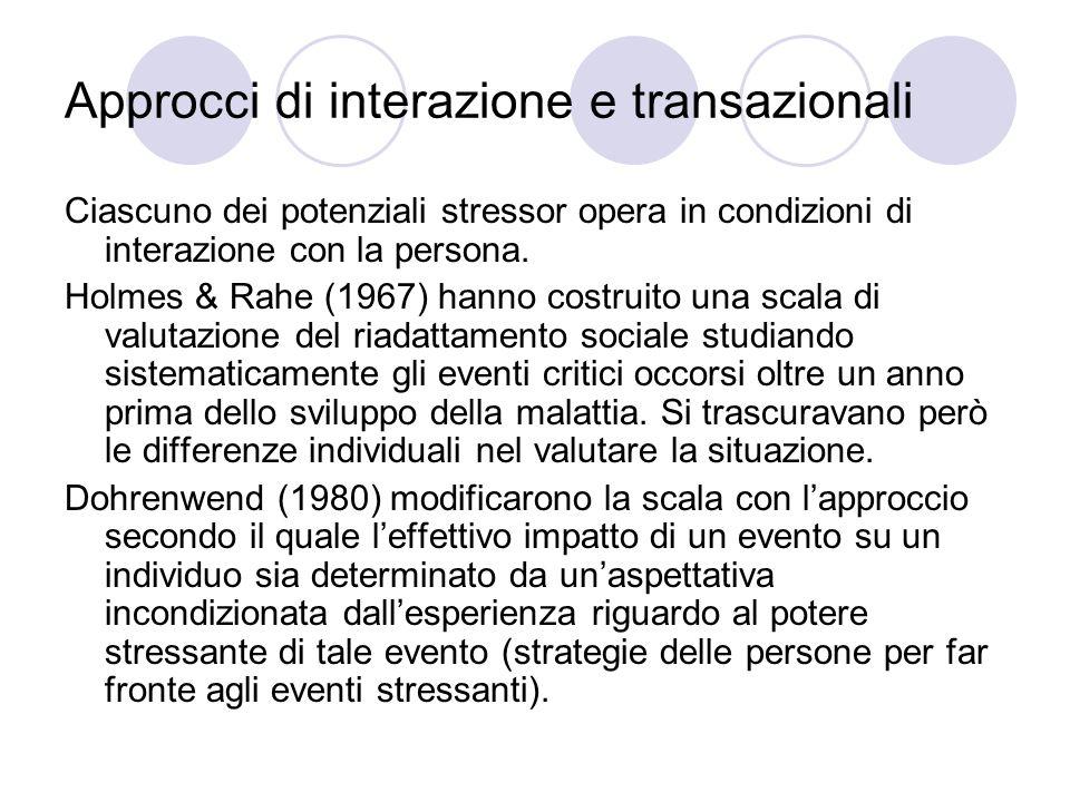 Approcci di interazione e transazionali