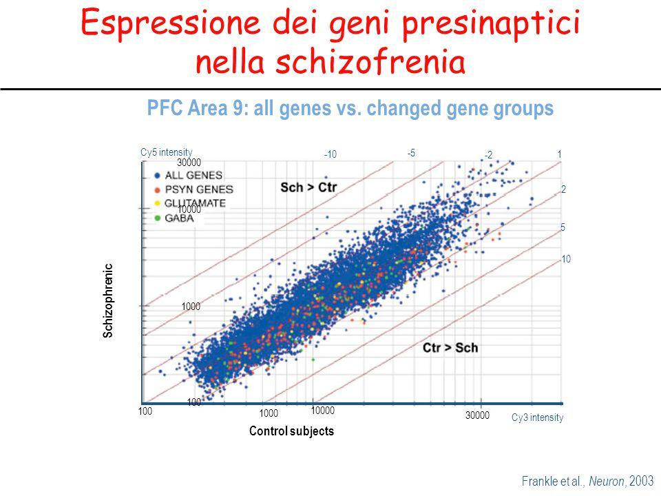 Espressione dei geni presinaptici nella schizofrenia