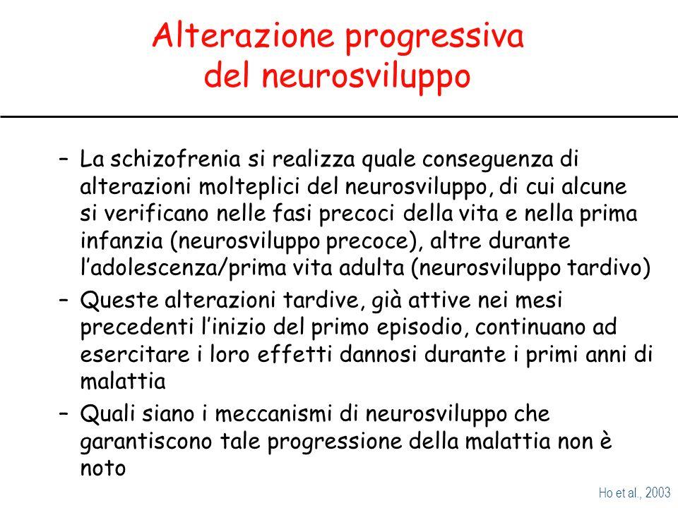 Alterazione progressiva del neurosviluppo