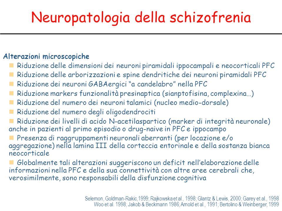 Neuropatologia della schizofrenia