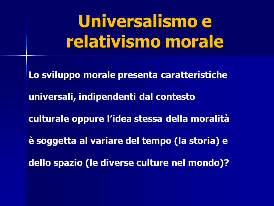 Universalismo e relativismo morale