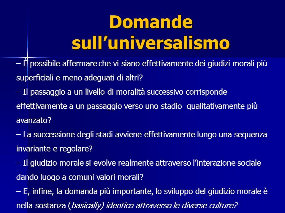 Domande sull'universalismo