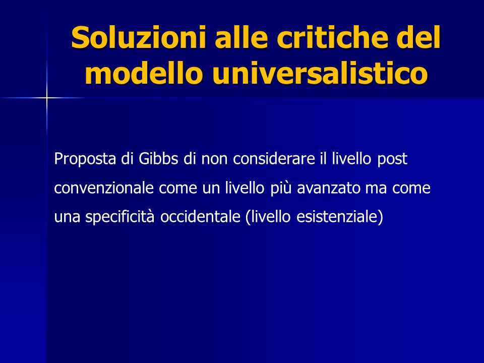Soluzioni alle critiche del modello universalistico