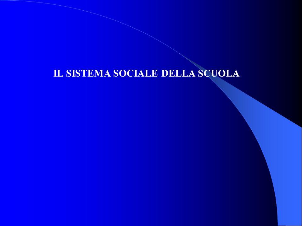 IL SISTEMA SOCIALE DELLA SCUOLA