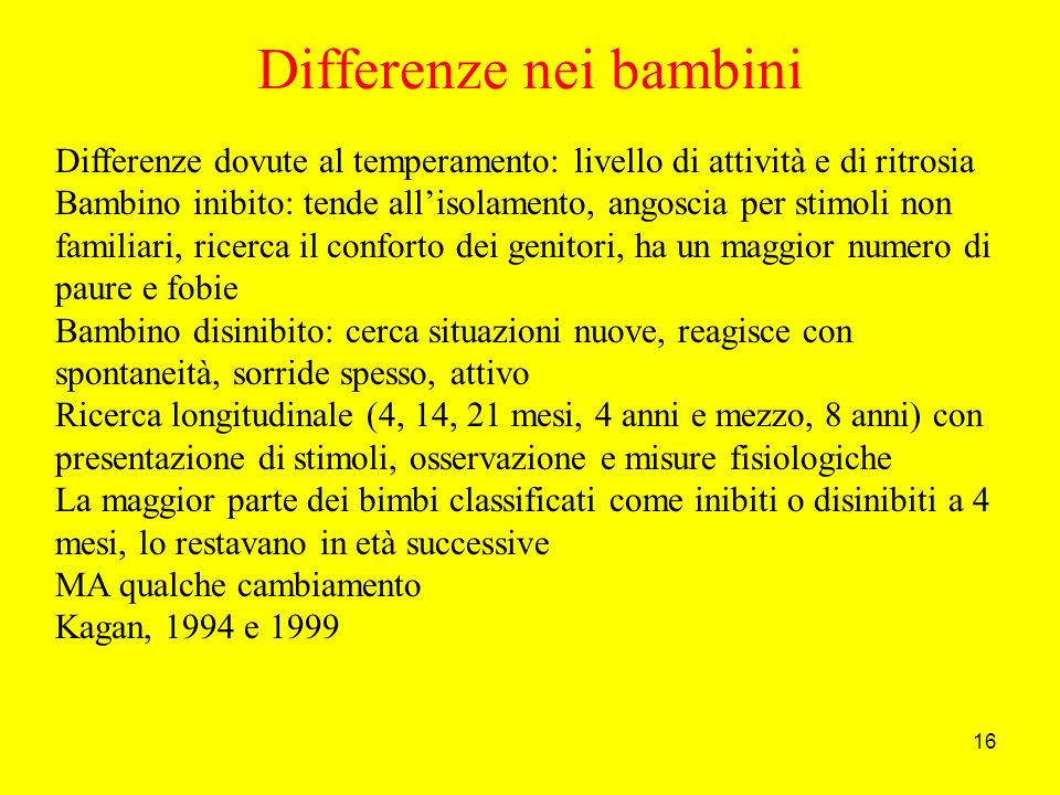 Differenze nei bambini