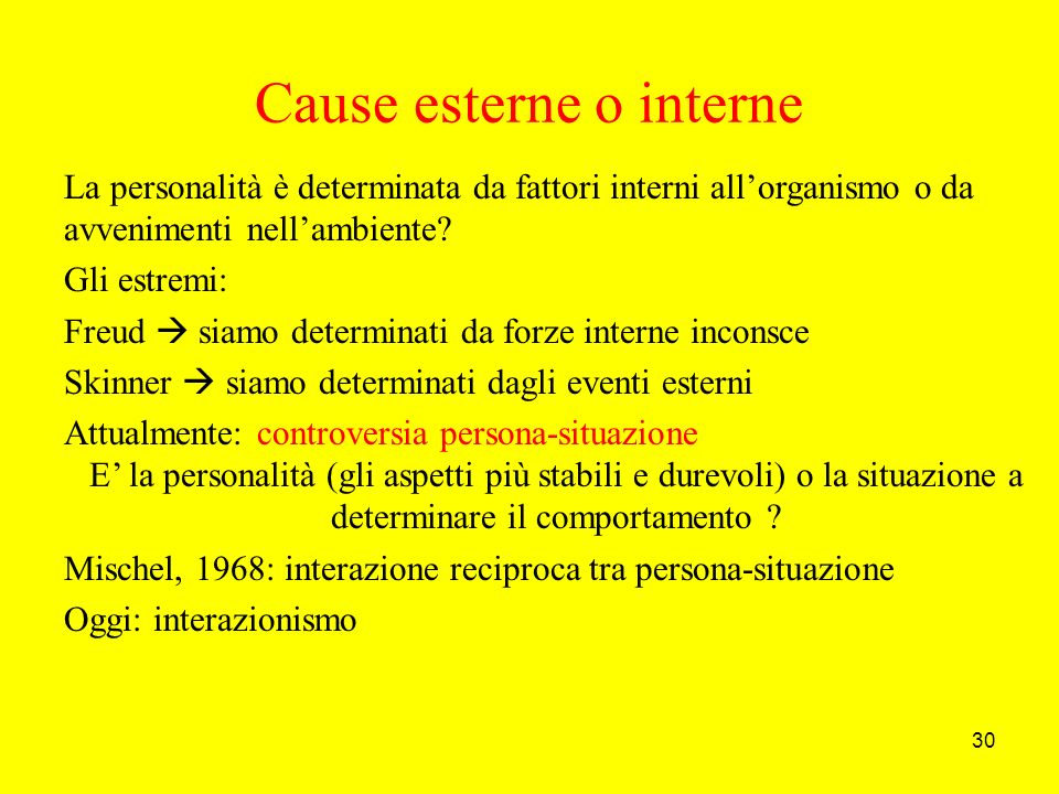 Cause esterne o interne