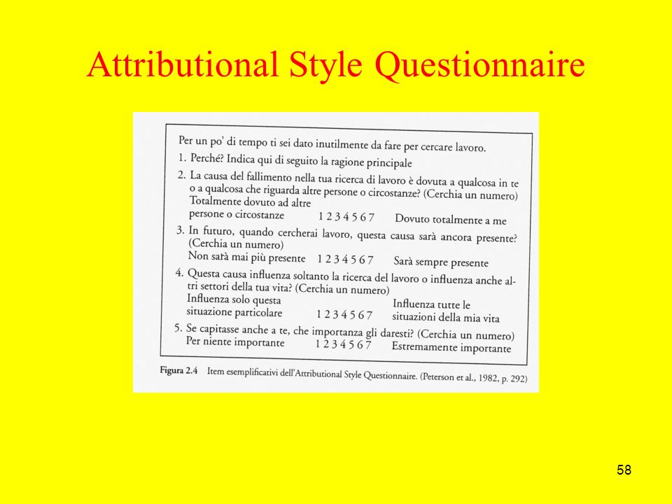 Attributional Style Questionnaire