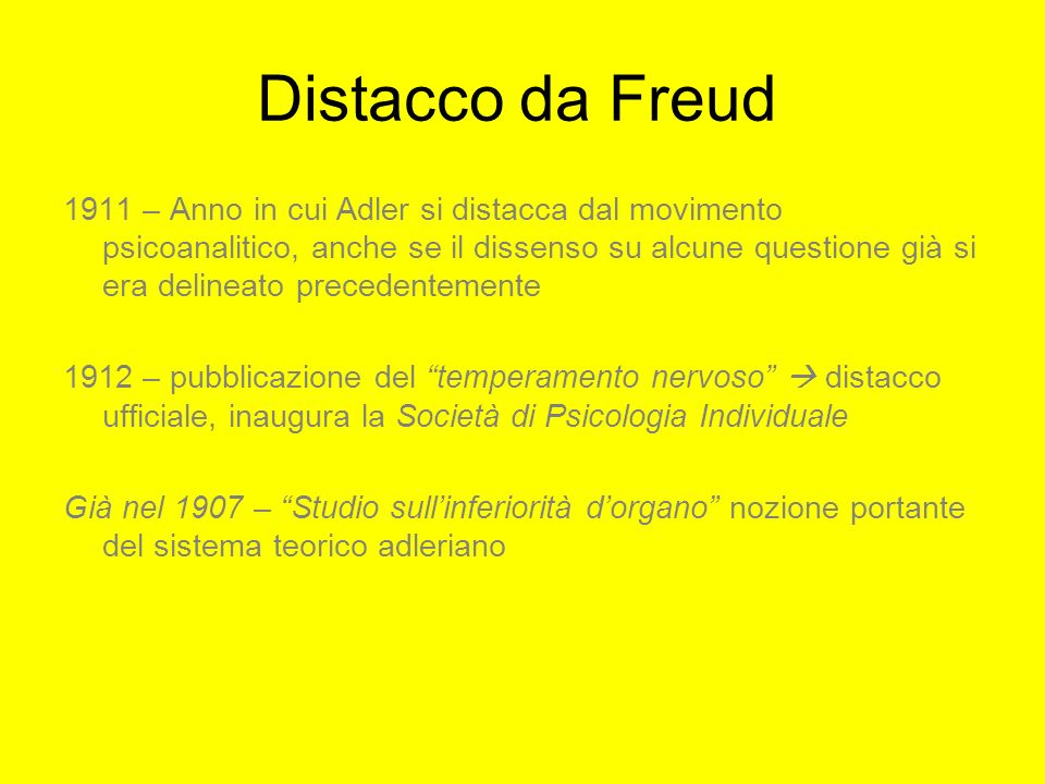 Distacco da Freud