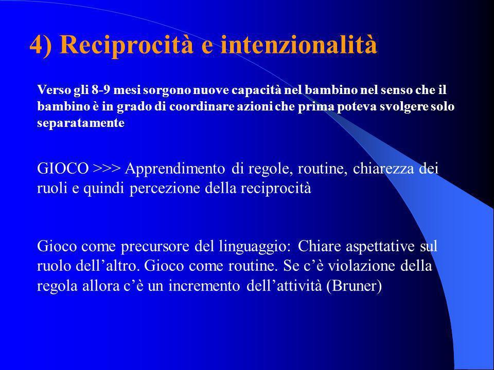 4) Reciprocità e intenzionalità