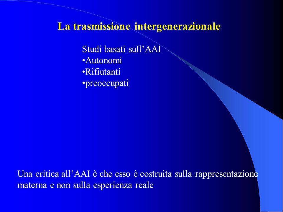 La trasmissione intergenerazionale