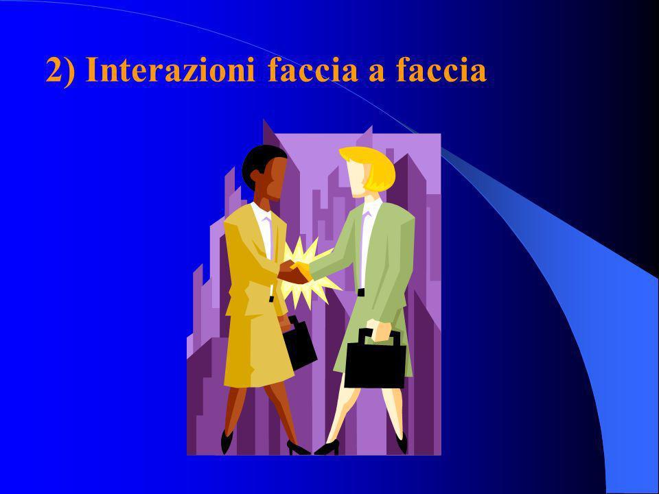 2) Interazioni faccia a faccia