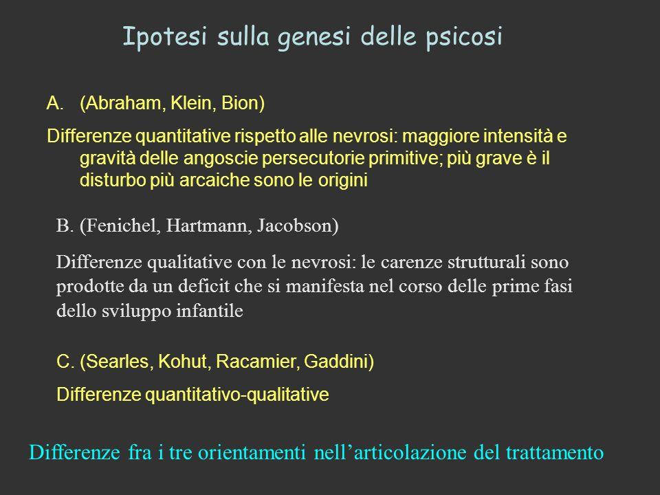 Ipotesi sulla genesi delle psicosi