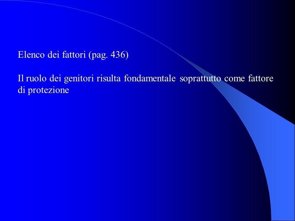 Elenco dei fattori (pag. 436)