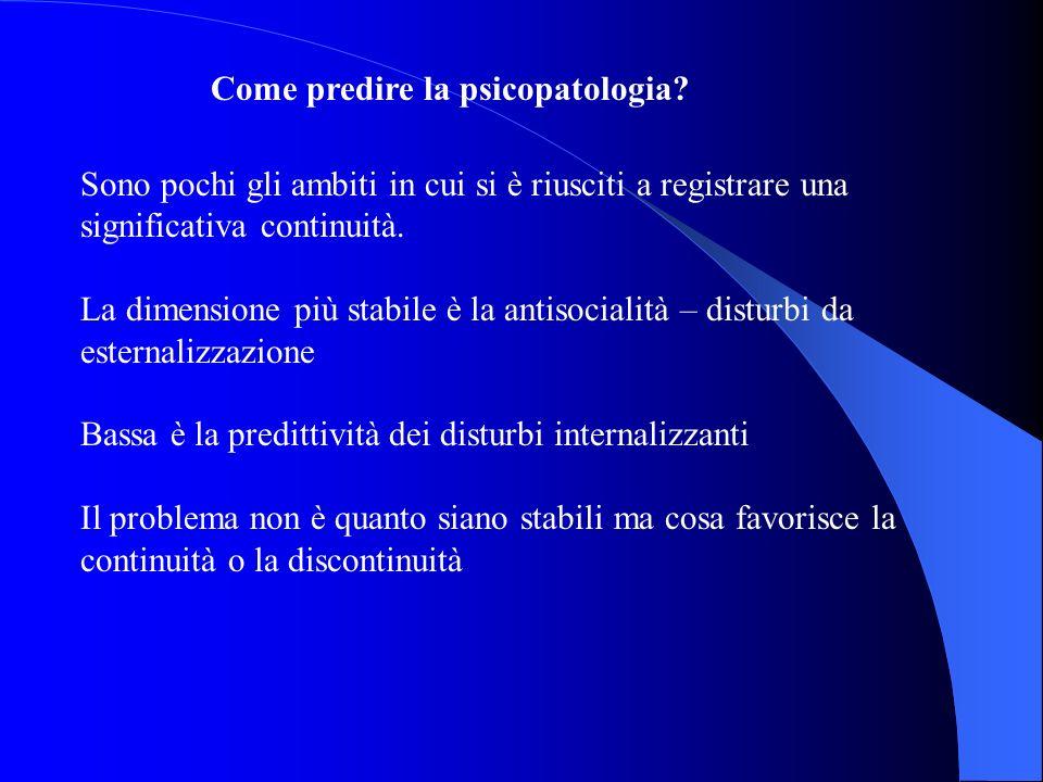 Come predire la psicopatologia