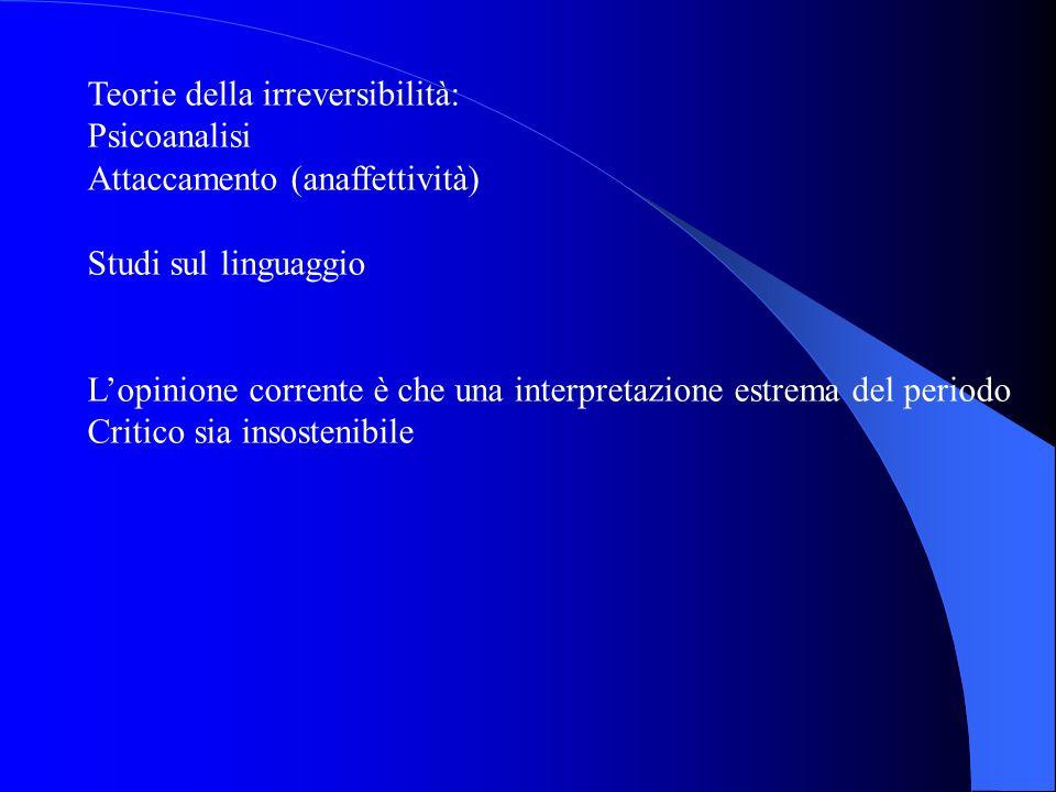 Teorie della irreversibilità: