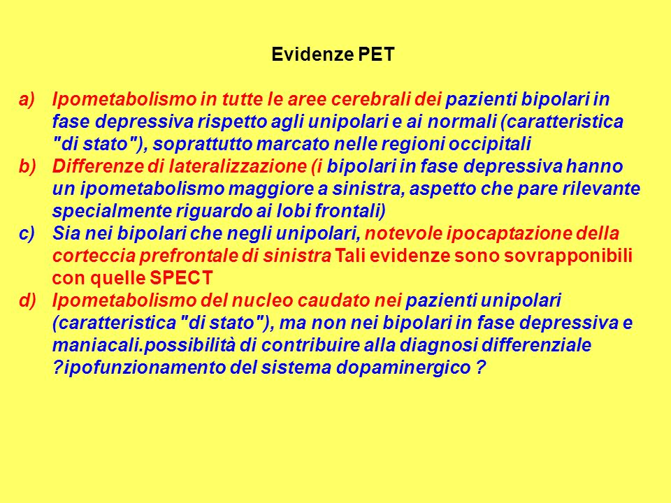 Evidenze PET
